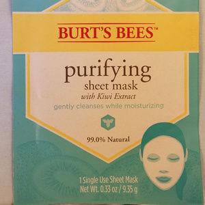 4/$25 NIP Burt's Bees Face Mask Kiwi Extract ONE
